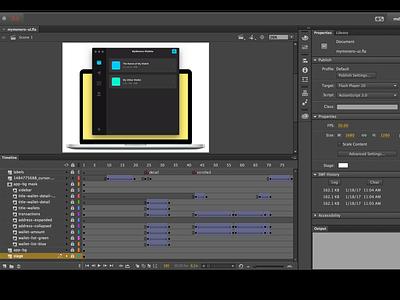 MyMonero UI Animation mac os mac sidebar accordion interaction animation ui desktop app desktop