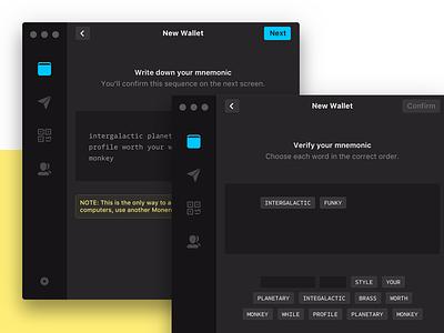 Mnemonic emoji mac os mac sidebar input form interaction ui desktop app desktop