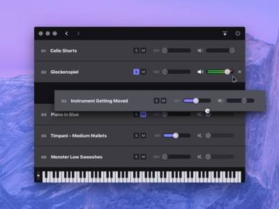 Cinesampler – Music app osx macos midi keyboard ui interface app desktop app mac