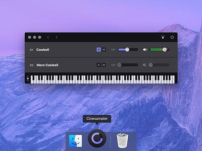 More Cowbell osx macos midi keyboard ui interface app desktop app mac
