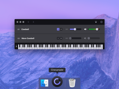 More Cowbell osx macos midi keyboard ui interface app desktop app mac