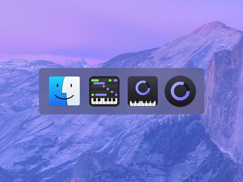 Cinesampler Icons icon osx macos midi keyboard ui interface app desktop app mac