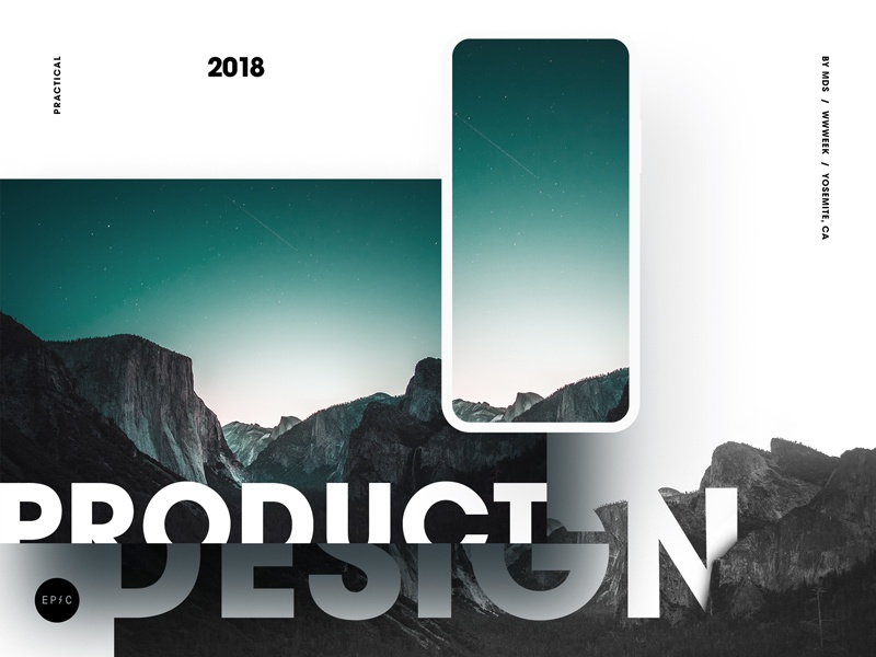 Ppd Yosemite Thumb typography negative space layout avant garde ios iphone mobile epicurrence poster