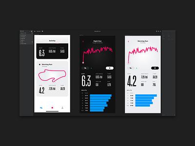 Night Run action condensed interface invision invision studio ios iphone iphone x mobile ui