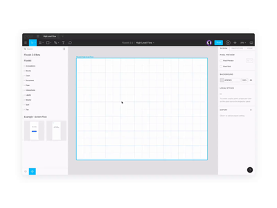 Flowkit 2.0 interactions boxes lines arrows symbols components design system library user flows user flow ux sketch figma