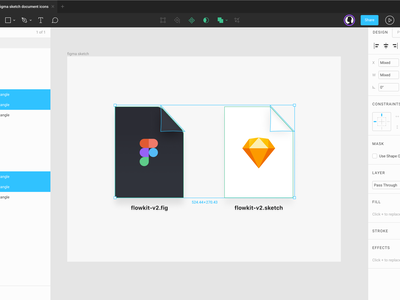 Figma & Sketch Document Icons freebie illustration document icons