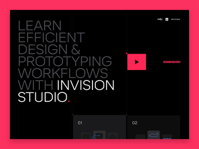 Switch to Studio – Launched! 🚀 animation studio resource responsive home page landing page invision studio
