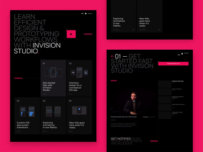 Switch to Studio 🚀 animation video form responsive landing page invision studio invision