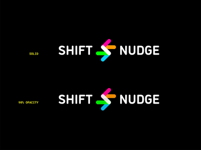 Top or Bottom? shift and nudge animation brand logo