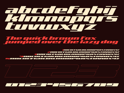 Zoom type typography font