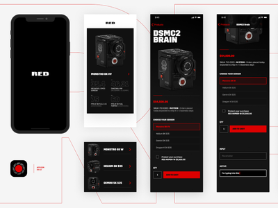 RED Camera Design Experiment input button interface product red camera iphone x iphone ios