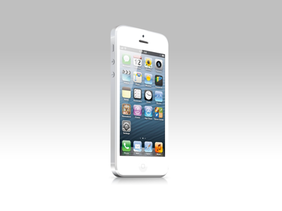 Iphone 5 white psd