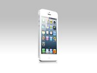 White iPhone 5 Psd