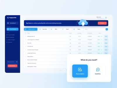 Files Management Dashboard cloud interface files cloud app file manager file upload storage product design platform overview saas documents ux ui minimal dashboard clean