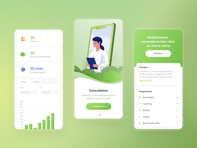 Medical Health App ios clinic hospital patient app doctor appointment doctor consulting consultant anxiety medicine mobile app health care health medical app ux ui minimal clean