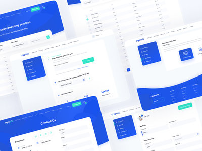 Cryptric – Cryptocurrency platform blockchain cryptocurrency pages design system tabs kit ui elements table trade platform ethereum crypto wallet my profile contact us crypto dashboard ux ui clean minimal