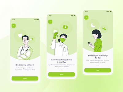 Medical App: Infincon anxiety consulting doctor appointment patient app clinic hospital doctor medical analytics app illustration interaction app mobile onboarding motion graphics animation minimal clean ux ui