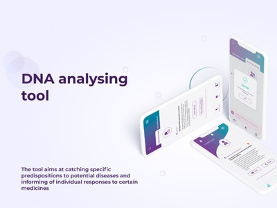 [Healthcare/Life-science] UI/X Design for DNA analysing tool web application mobile-first prototype minimal ux ui mobile app design app design