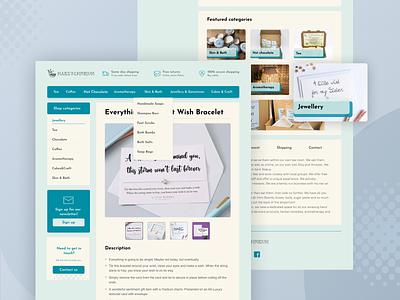 [E-commerce] gift shop template UI design web design e-commerce ui
