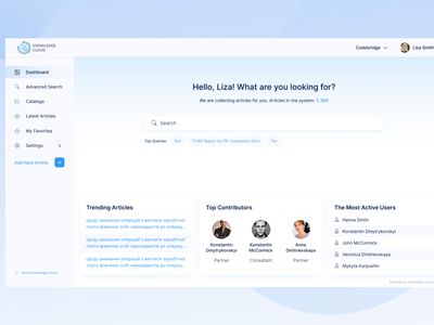 [SaaS - Dashboard] Knowledge Management System for Audit and Law user research figma minimal app design ux ui prototype