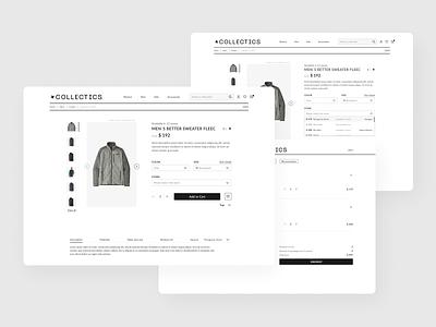 [E-commerce] UI/UX responsive design for clothes niche website illustration design website minimal figma app design ui ux prototype