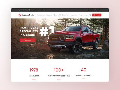 [Website UI/UX Design] for Trucks service company design website figma minimal app design ux ui prototype