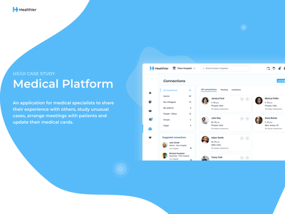 [Healthcare - Social platform web app] for health practitioners web application design web application healthcare uiux uiux design minimal app design figma ux ui prototype