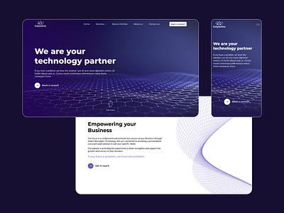 B2B responsive website redesign wireframe mockup dark theme design responsive website design website figma ux ui prototype