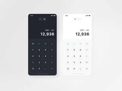 UI Challenge 04 | Calculator calc calculator app calculator ui calculate dailyui ui minimal design app