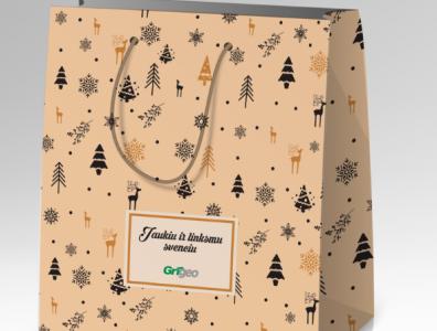 Christmas gift bag design bag store bag mockup logo design pacage design bag design