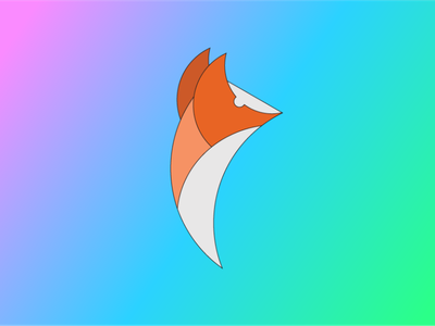 FoX flat illustrator icon graphic design art vector minimal illustration design