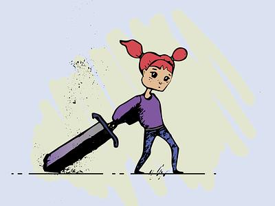 SwiftGirl flat illustrator graphic design art vector minimal illustration design