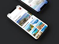 Vacation booking app concept