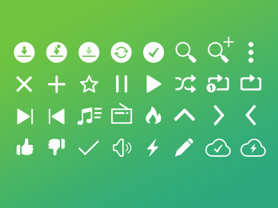 Saavn for Android - Icons