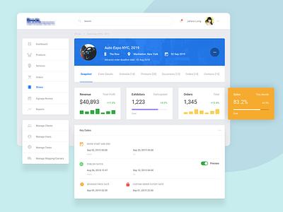 Snapshot Show Management Backend analytics backend design app web ux ui