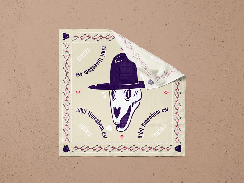 💀 Bushin with Death 💀 adventure time adventure death 2020 bandana design jacksonville vector illustration