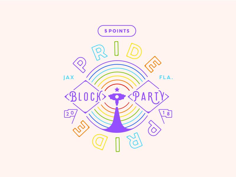 5 Points Pride 2018 logo vector illustration badge florida jacksonville rainbow 2018 pride 2018 pride