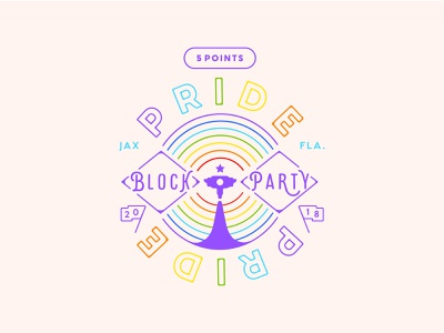 5 Points Pride 2018 logo vector illustration badge florida jacksonville rainbow 2018 pride 2018 pride