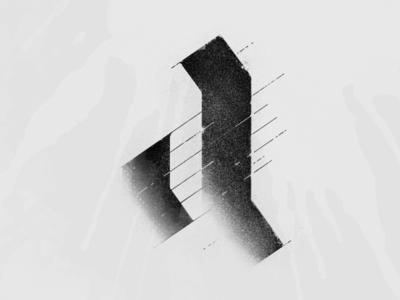 Black Letter 'a' Experiment photoshop grey black letter blackletter