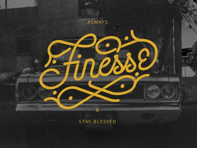 😎Always Finesse Monoline Experiment typography type monoline yellow vector illustration