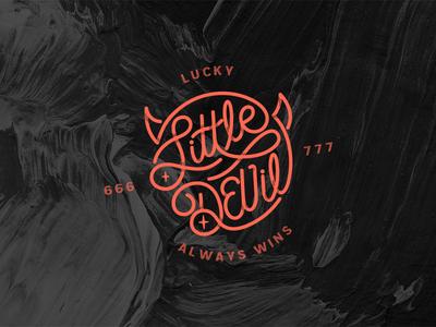 😈Lucky Little Devil 2019 red jacksonville illustration vector experiment lettering monoline devil lucky