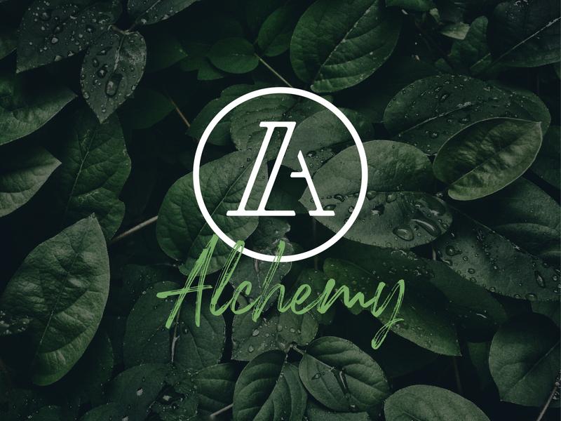 🧿A is for Alchemy 2019 green branding typography design 2020 logo jacksonville vector illustration