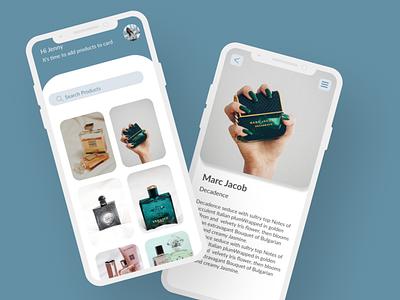 Fragrance app ux branding design uidesign mobile ui