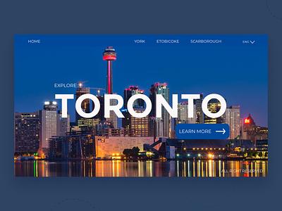 Toronto skyline web toronto city typography ux ui uidesign