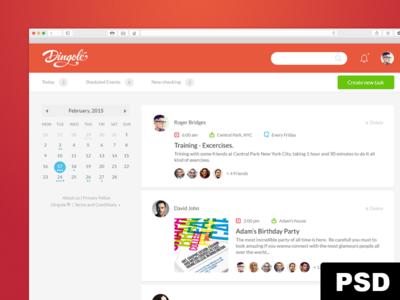 Dingole Web app + Free PSD