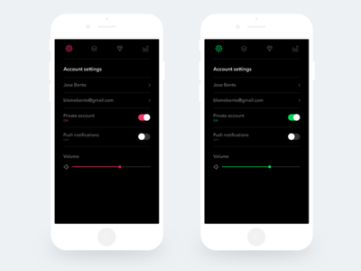 Daily UI 015 On Off Switch on off switch mobile ux ui daily ui