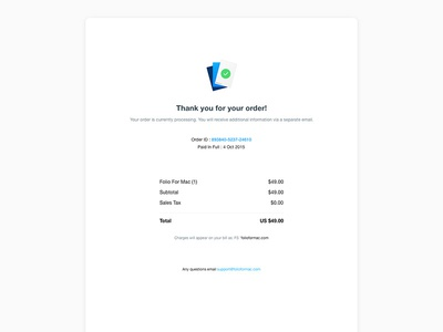 Daily UI 17 Email Receipt receipt email ux ui daily ui