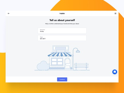 Onboarding (Brand name and Slogan) illustration onboarding ux ui web