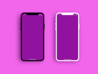 Iphone X sketch mock up