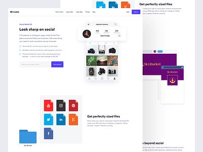 Looka - Social media logojoy looka design visual design looka brand ui design ui layout design flat clean website interface